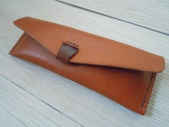 栃木レザー社製オイルヌメ革ペンケースHCAの画像
