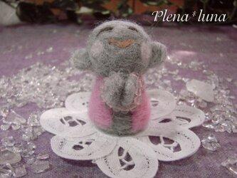 こ地蔵さん ピンクS006GRY(ローズクオーツ)の画像