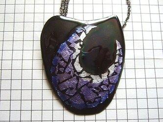 銀七宝 銀箔 ブローチネックレスの画像