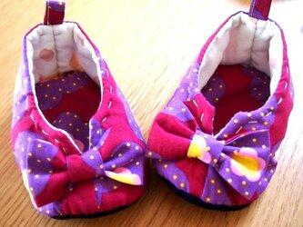 ベビーシューズ(紫)の画像