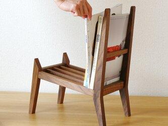 【book rest chair】マガジンラック/木桟の画像