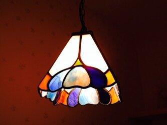 ランプ ブルーの花(yumi saiki)の画像