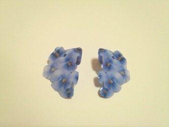 (再)ブルー小花ピアスの画像