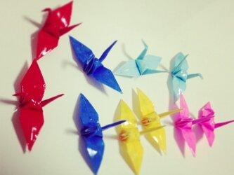 折り鶴ぴあす(セット)みず色の画像