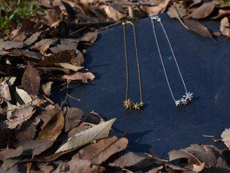 星集いゴールドカラーネックレスの画像