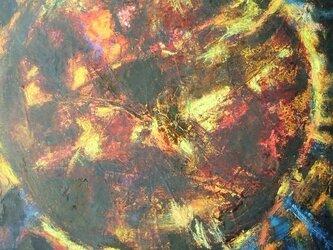 絵画 インテリア キャンバス画 油絵 cosmos SUNの画像