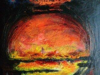 絵画 インテリア キャンバス画 油絵 cosmos SUNRISEの画像