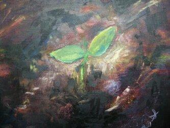 絵画 インテリア キャンバス画 油絵 cosmos 誕生 1の画像