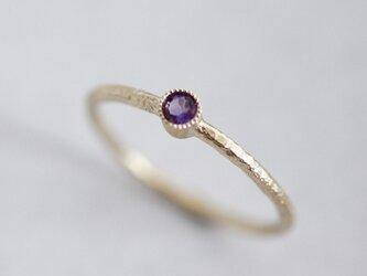 Amethyst one stone ring {R050K10AM}の画像