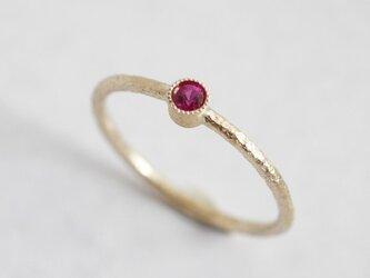 Ruby birthstone ring [R050K10RB]の画像