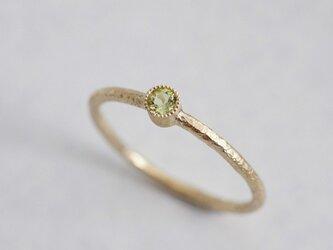 Peridot one stone ring {R050K10PD}の画像