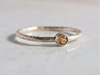 Citrine birthstone ring [R050K10CT]の画像