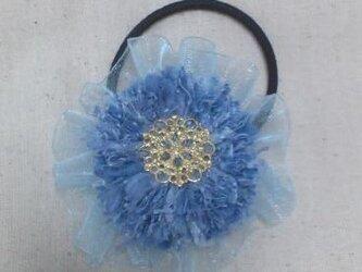 お花ヘアゴムの画像