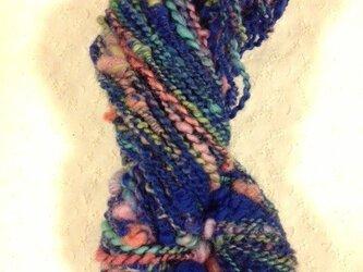 アートヤーン(手紡ぎ糸)海王星 約86m、87gの画像
