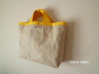 帆布の鞄Ⅱ オフベージュ×イエローの画像