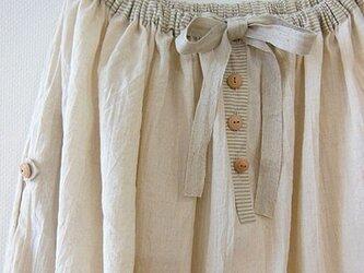 soldoutコットンリネンワッシャー×ストライプのスカートの画像