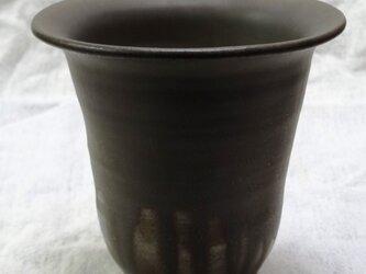 銅マンガン釉 園芸鉢の画像
