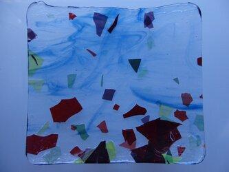 ガラスプレート(午後の散歩)青の画像