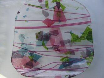 ガラスプレート(午後の散歩)ピンクの画像