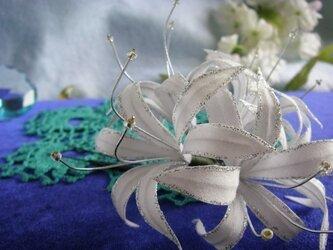 ヘッドドレス(ホワイトリコリス)古布額セットの画像