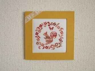リネン動物フレーム リスの画像