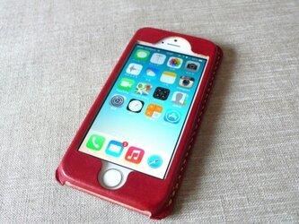 【受注制作】iPhoneケース《5/5S/SE専用》|レッドブラウンの画像