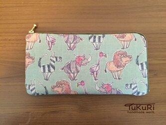 【再販】草原の仲間たちの長財布の画像