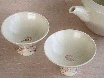 色絵金彩盃 桜(花びら)の画像