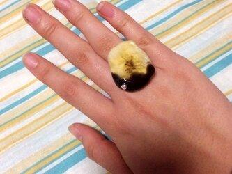 本物のドライバナナで作ったチョコバナナのリング♪の画像