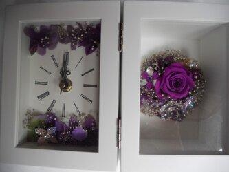 曼荼羅フラワー置き時計の画像