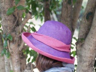 リネン ナチュラル帽子の画像