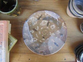 コラージュの朝ごはん皿 (赤土)の画像