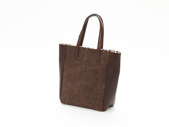 アンティーク酒袋×本革ミニトートバッグの画像