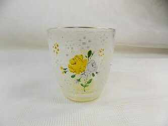 もりもり黄色いお花のミニグラスの画像
