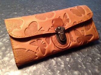 差し込み金具の長財布*蝶の画像