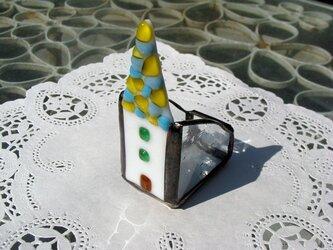 ガラスのミニハウス小物入れの画像
