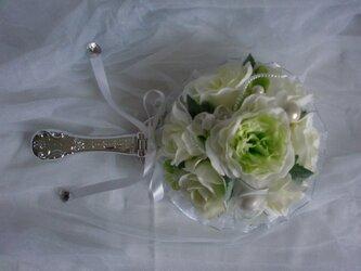 プリンセスミラー 挙式で使ったブーケを手鏡に加工の画像