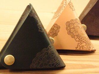 ペイズリー柄三角コインケースの画像