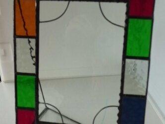 ステンドグラス フォトフレームの画像