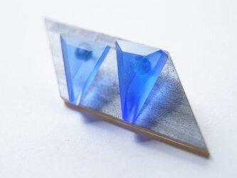 ウミノサンカク SEA GLASS ピアス qの画像