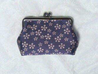 浅紫 シルク西陣織の画像