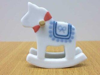 木馬オブジェの画像