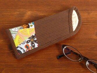 メガネケース(薄型) ~恋するフェアリー~ 赤錆色の画像