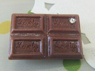 板チョコレートのブローチの画像