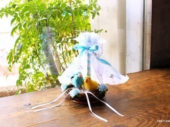 リングピロー:小鳥のオーダーリングピローの画像