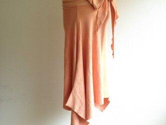 Prana skirt 蓮華色/オーガニックコットンスカートの画像