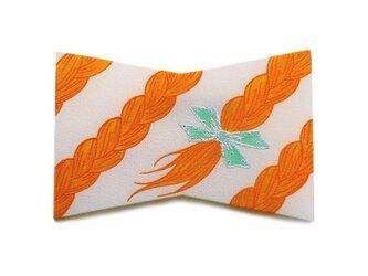 おさげリボンブローチ(Orange)の画像