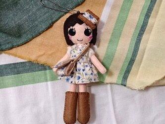 着せ替えフェルト人形根付NO.26の画像