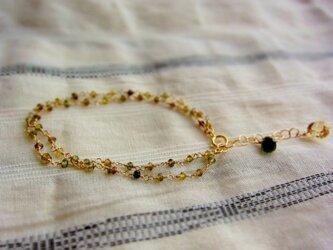 グリーントルマリンの糸の画像