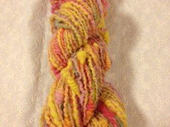 アートヤーン(手紡ぎ糸)約58g56m 黄色系の画像
